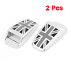 2 Pcs Silver Tone Black Aluminium Car Washer Nozzle Covers Caps for Mini