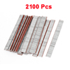 2100 Pcs 10mm Length 18 Gauge Brad Nails Silver Tone for Nailer Guns