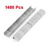 Silver Tone Metal 8mm Height 10mm Crown Wide Nails Staples 1400 Pcs