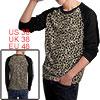 Men Long Sleeve Leopard Pattern Stylish NEW Shirt Beige Black M