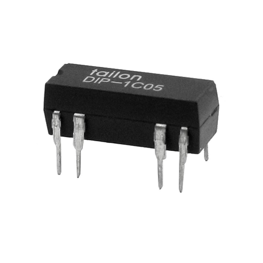 Epoxy Molded 8 Pin DIP-1C05 DIP Series Reed Relay Black DC5V 1A