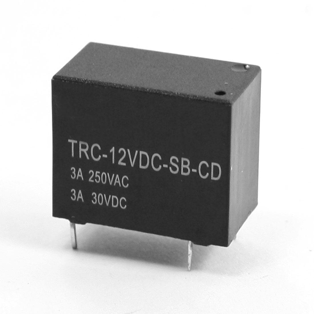 DIY PCB Board DC 12V Coil Volt 5 Pin SPDT Plug-in Mini Power Relay