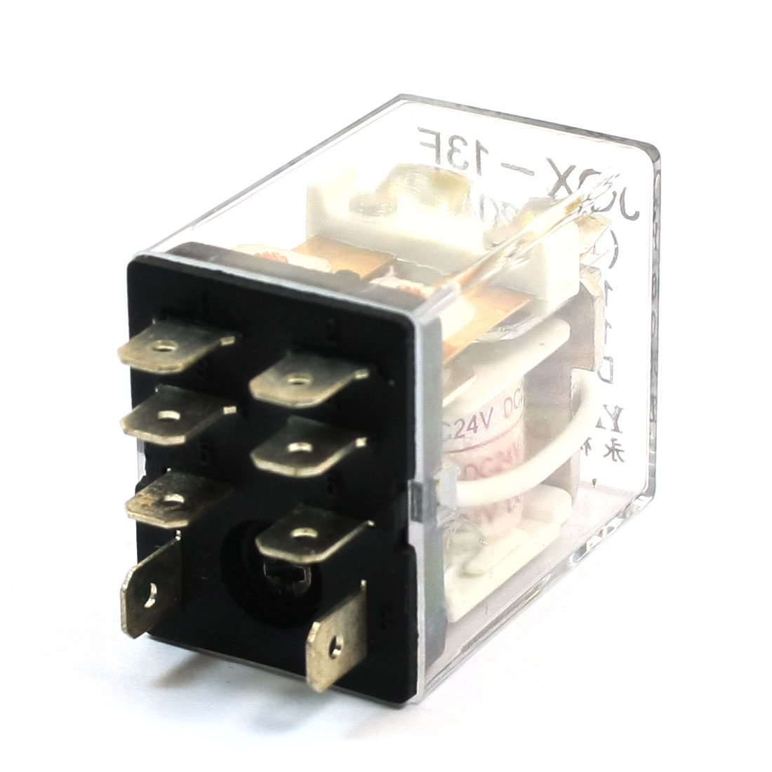 JQX-13F-2C-24 DPDT 8 Pin Electromagnetic Relay DC 24V Rating Coil