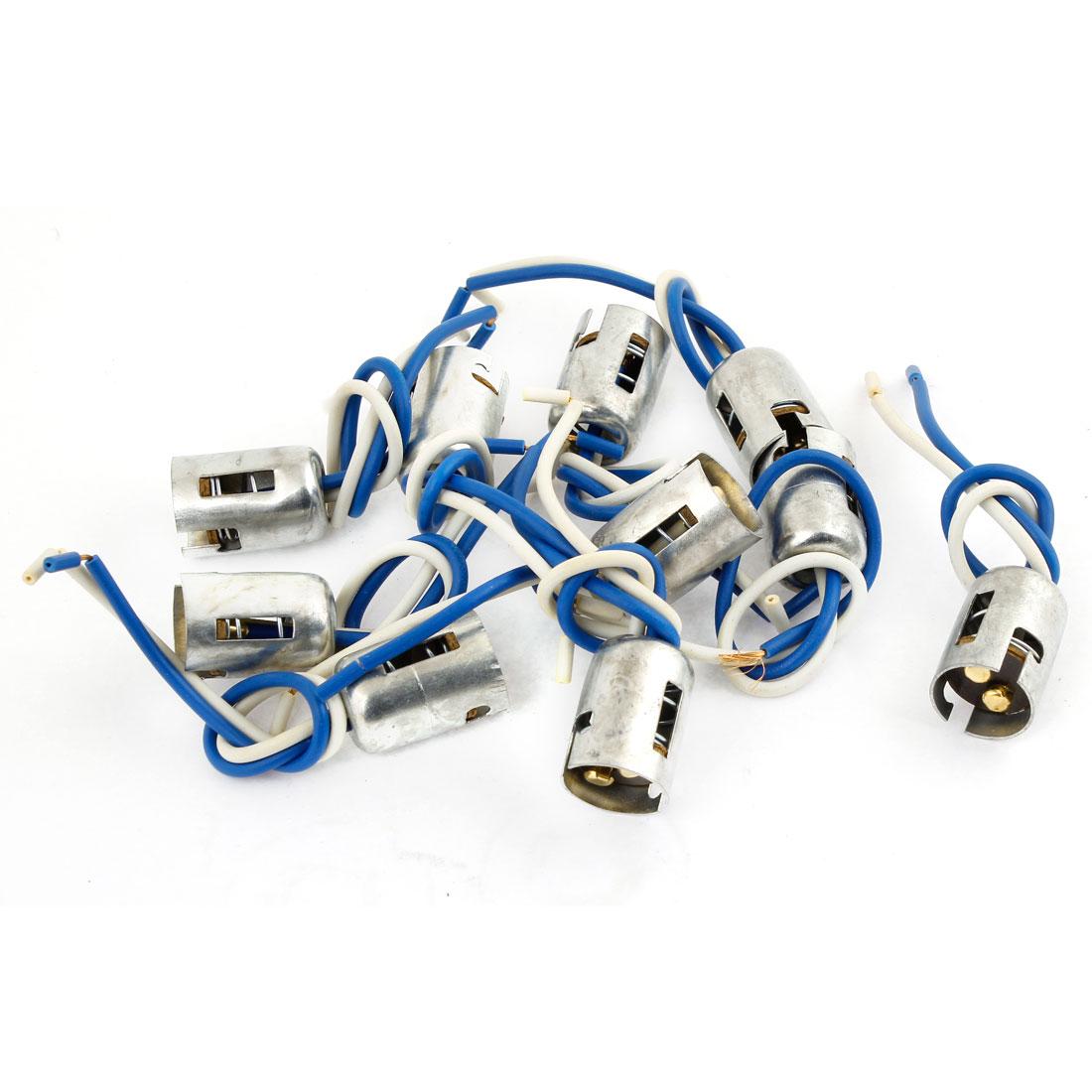 10 Pcs DC 12V 1157 1016 Bulb Socket Brake Turn Signal Light Harness Wire Adapter