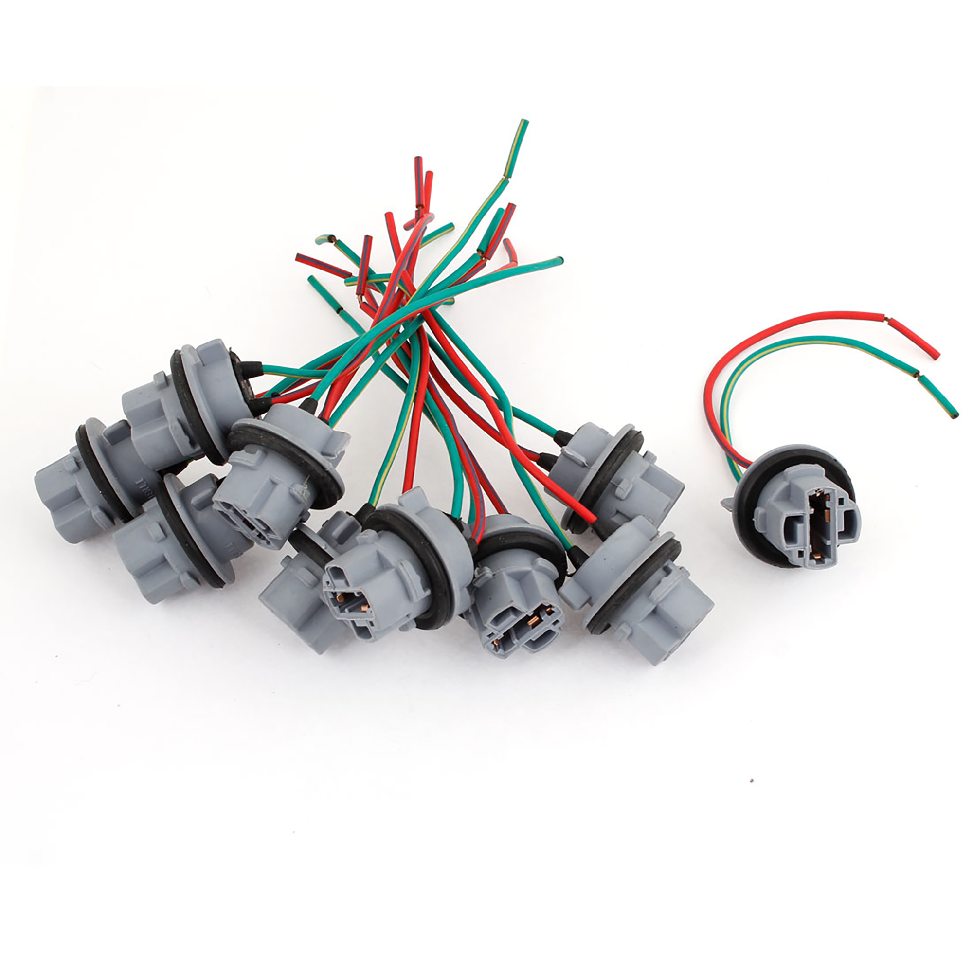 10PCS T20 7440 7443 Socket Harness Connectors Pre-wired Wiring Adapter