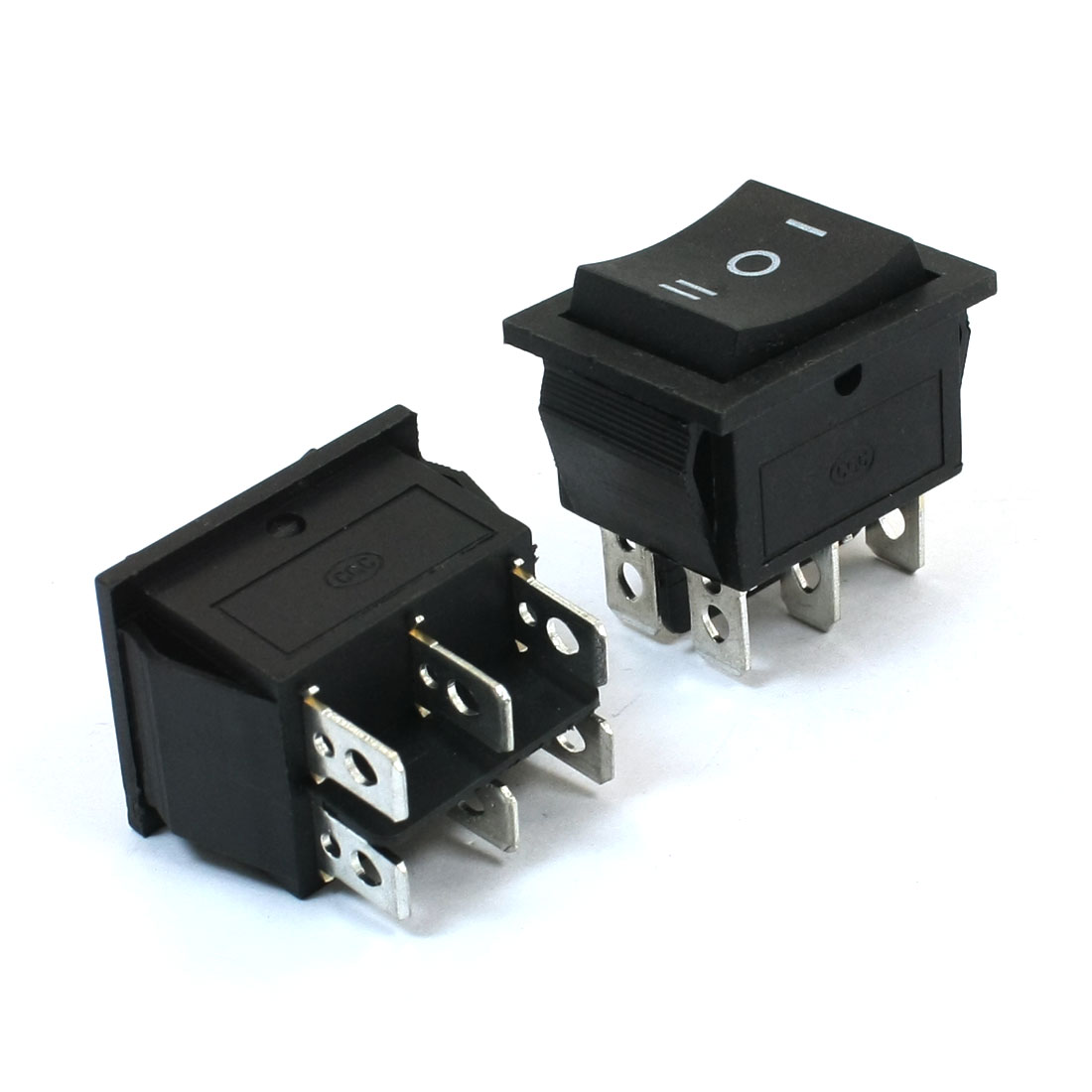 Momentay DPDT On/Off/On Panel Mount Rocker Switch 2PCS