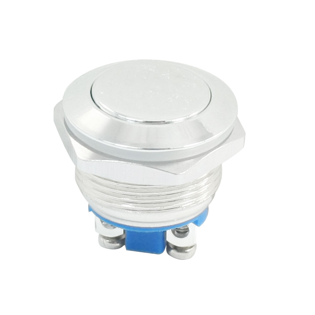 19mm Flush Mounted Momentary SPST Round Flat Metal Push Button Switch