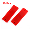 10 Pcs Vehicle Car Rectangle Bar Plastic Reflective Stickers Red