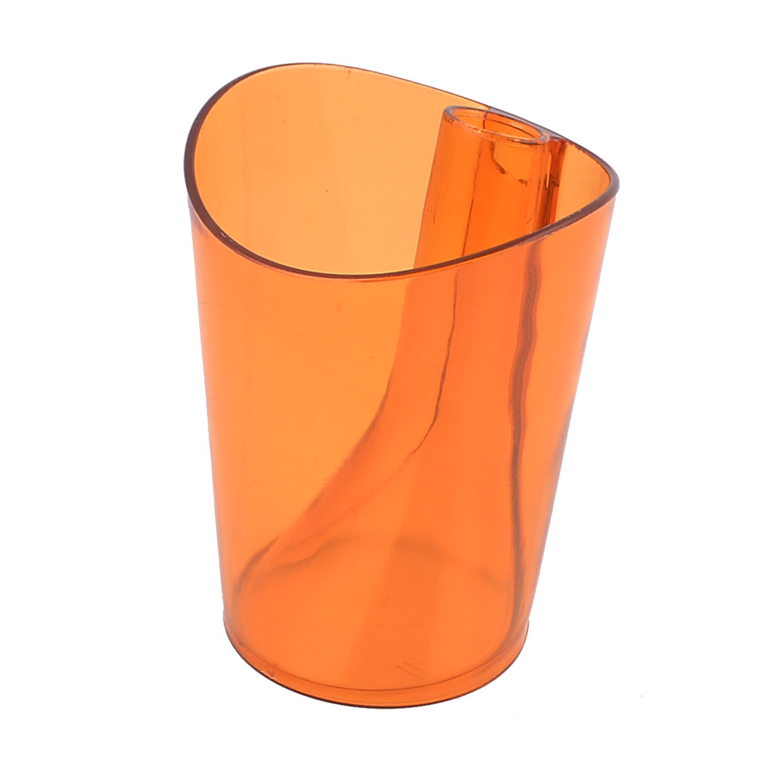 Household Amber Color Plastic Home Bathroom Gargle Toothbrush Cup 300ml