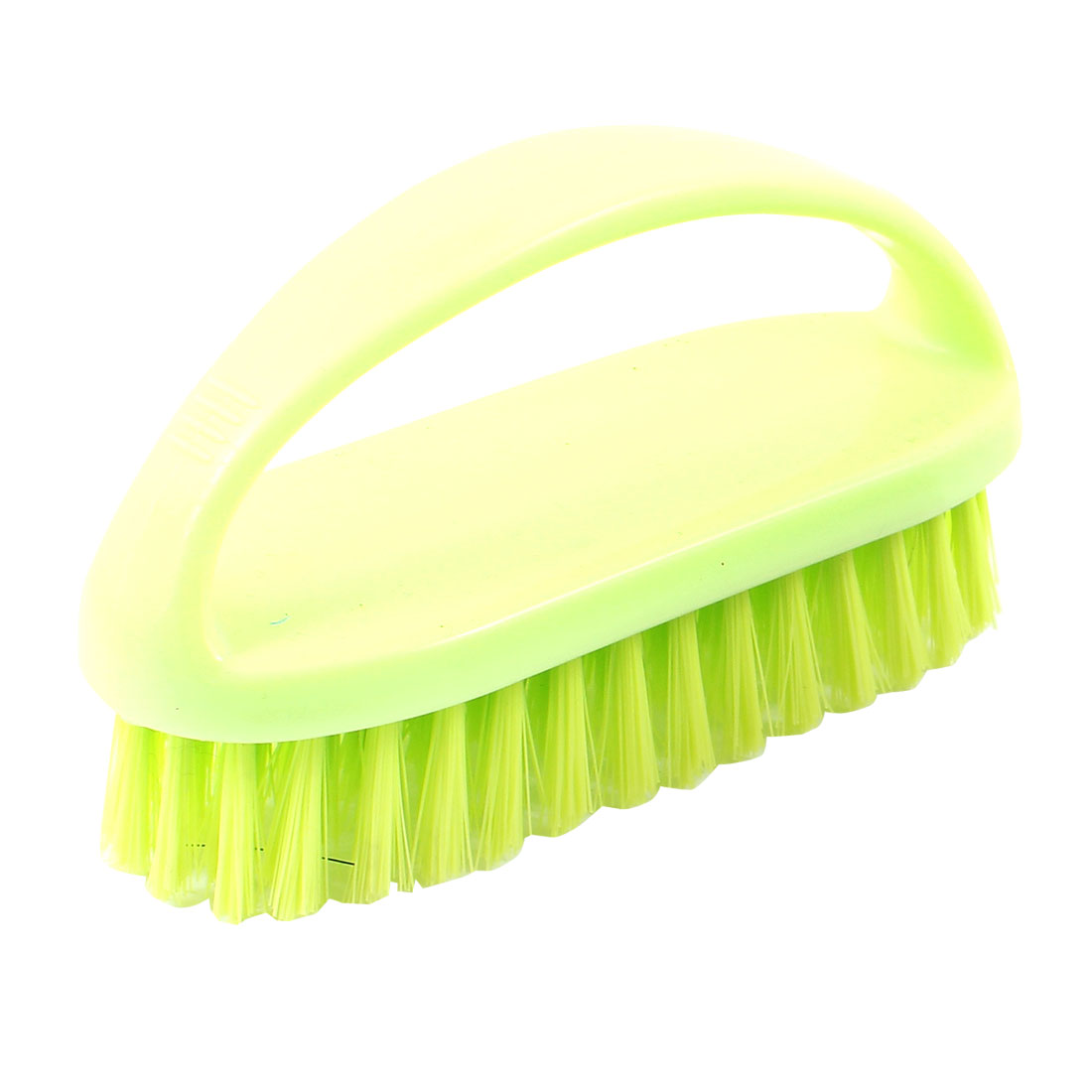 Chartreuse Bright Green Nonslip Handgrip Clothes Shoes Scrubbing Brush