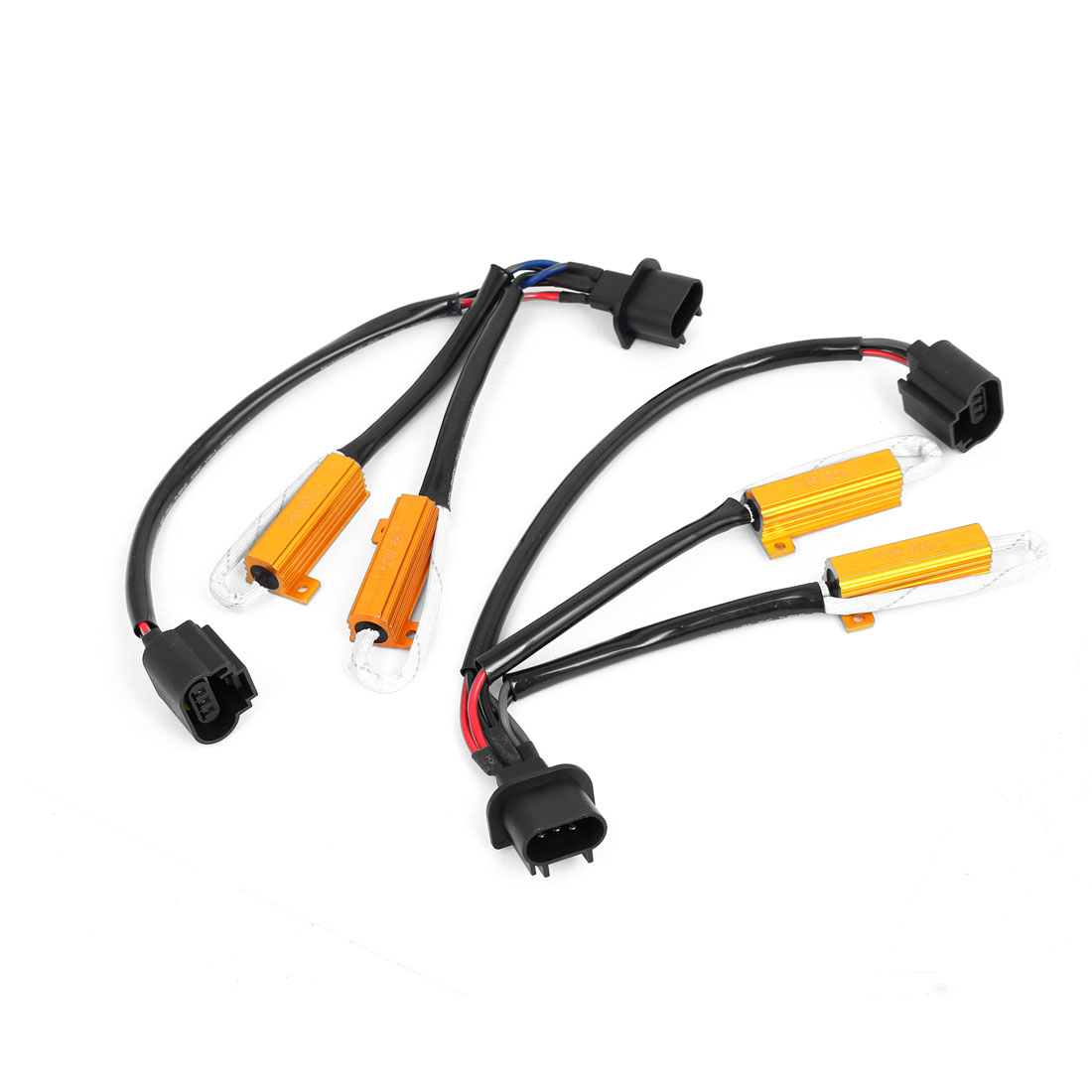 2 Pcs H13 9008 HID Conversion Kit No Error w Load Resistor Wiring Harness Adapter