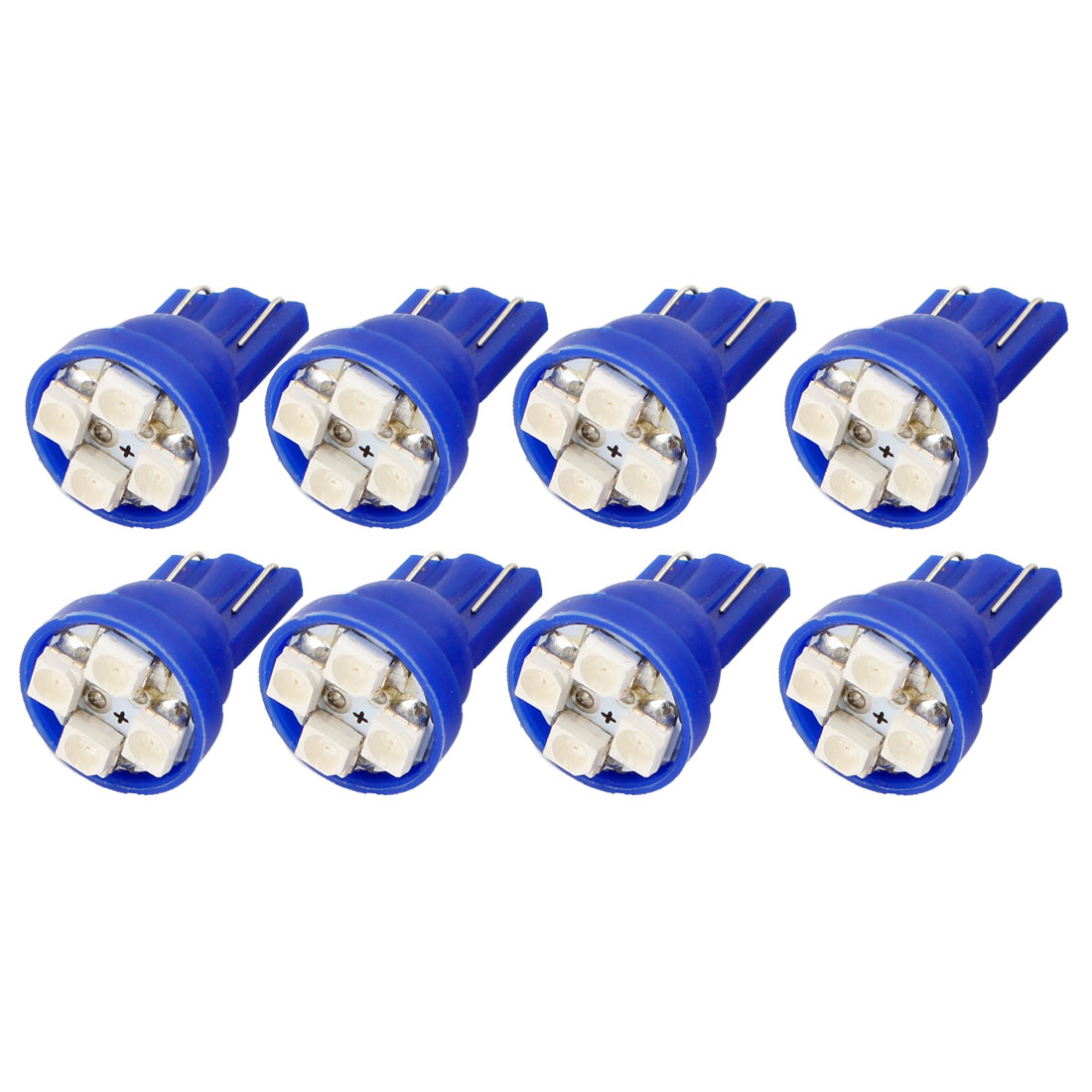 8pcs Car T10 194 168 W5W 1210 SMD 4-LED Dashboard Light Lamp Bulbs Blue internal