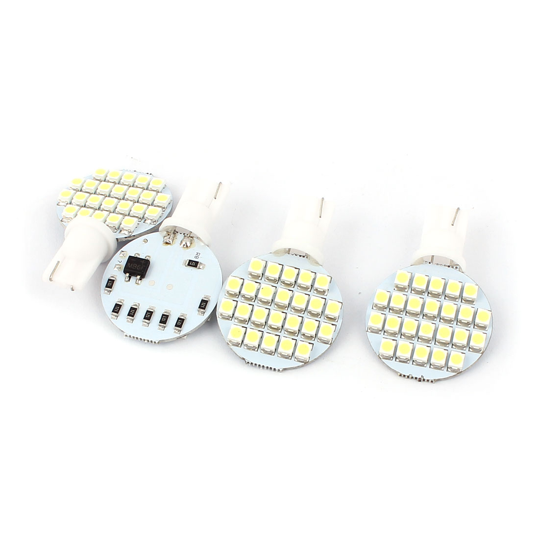 4pcs T10 168 W5W 3528 SMD 24 LEDs Car Interior Wedge Side Light Lamp Bulbs White