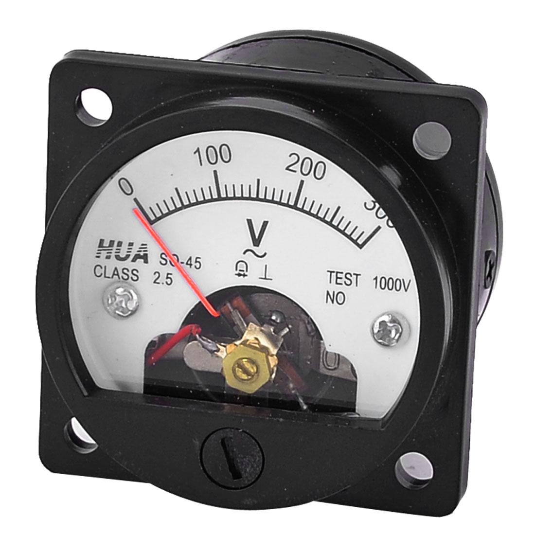 Square Dial Panel Zero Setting AC Voltmeter Volt Test Meter Gauge 0-300VAC