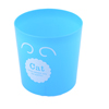 Home Office Desk Blue Plastic Cylinder Litter Garbage Storage Trashcan