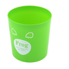 Desk Green Letters Pattern Plastic Litter Garbage Trashcan for Home Office