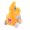 Child Kids Plastic Running Wheel Orange Pull String Chicken Toy