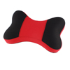 Vehicle Car Red Black Bone Shaped Neck Head Support Memory Pillow Cusion