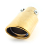 Car 60mm Inlet Exhaust Muffler Tip Silencer Gold Tone for Odyssey Ciimo