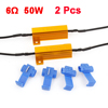 2 Pcs 6ohm 50W Load Resistors LED Bulbs Turn Signal Light Blink Flash Blinker