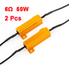2 Pcs Load Resistors LED Bulbs Turn Signal Lights Flash Fix 50W 6Ohm