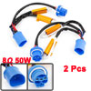 2 Pcs 9004 9007 HID Conversion Kit Error Free Load Resistor Wiring Harness Adapter