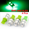 4pcs T10 194 168 W5W Green 5050 SMD 9-LED Car Auto Wedge Light Dashboard Lamp