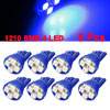 8pcs Car T10 194 168 W5W 1210 SMD 4-LED Wedge Light Dashboard Lamp Bulbs Blue