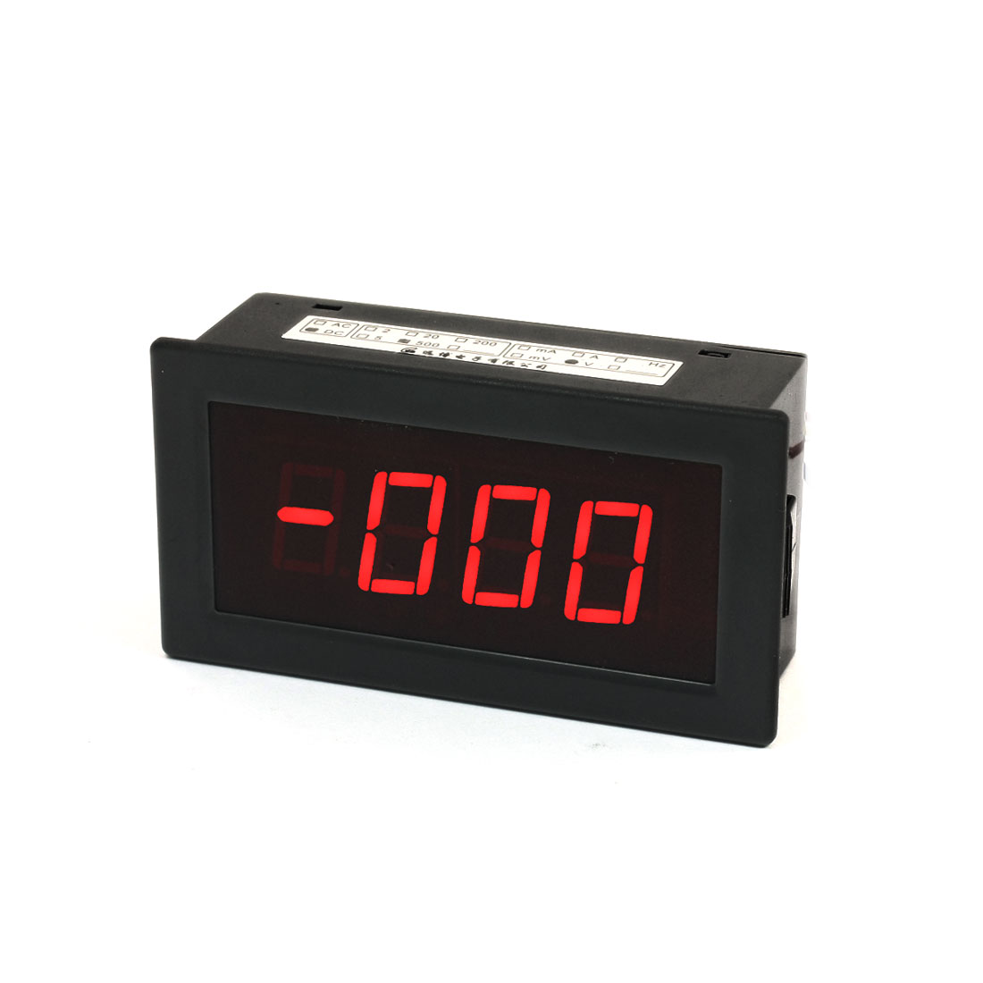 DC0-500V Red LED Display Voltmeter 3 1/2 Digital Panel Voltage Meter Gray