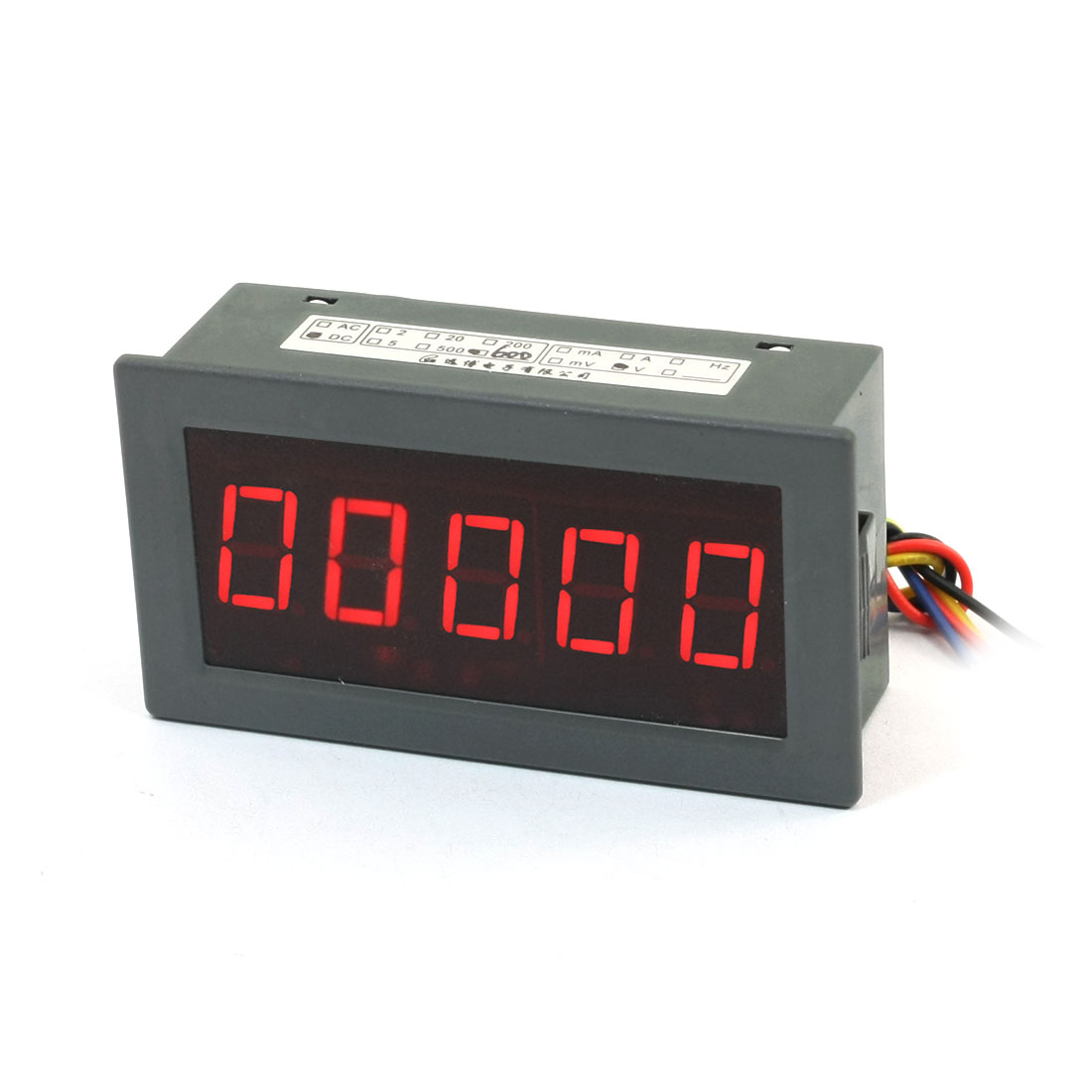 Gray Digital Voltmeter DC 0-600V Red LED Display 4 1/2 Panel Meter Gauge