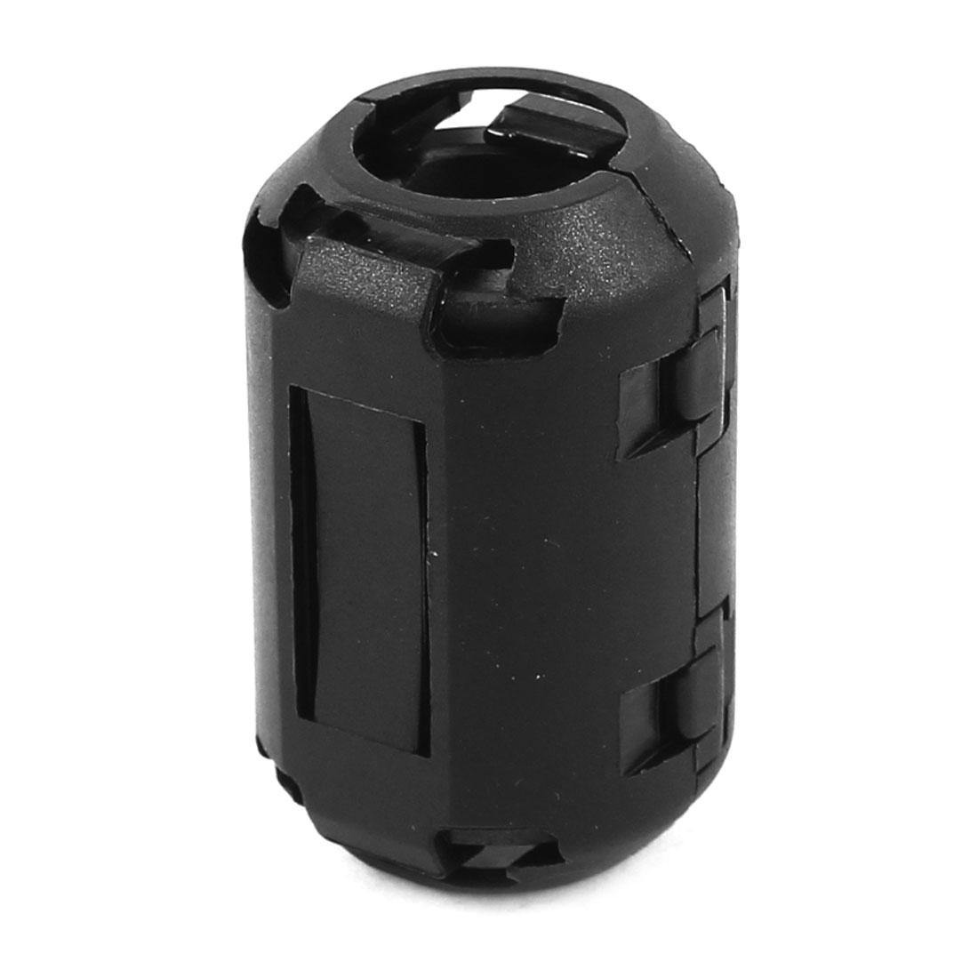 13mm Inner Diameter Black Core Case Ferrite Cable Clip EMI RFI Clamp