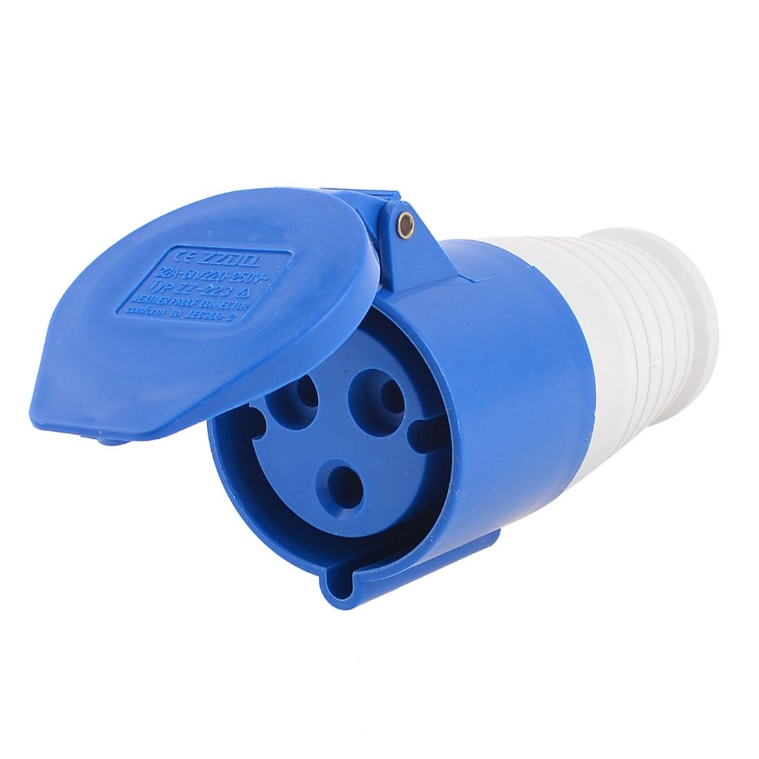 220-250V 2P+E Waterproof Industrial Socket Connector ZZ-223