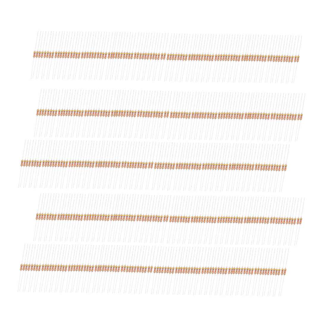 500V 1/4W 47K Ohm Metal Oxide Film Resistor 500 Pcs