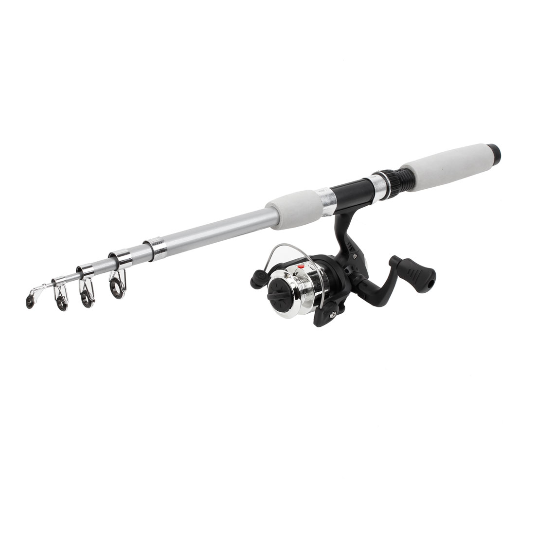 1.8M 4 Sections Telescopic Fishing Pole Rod + Gear Ratio 5.2:1 Spinning Reel