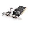 RS232 PCI-1P2S DB9 9 Pin Double Male PCI to Serial Card Adapter