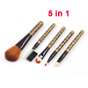 Set 5 in 1 Leopard Prints Face Eyes Make Up Brush Eyebrow for Women