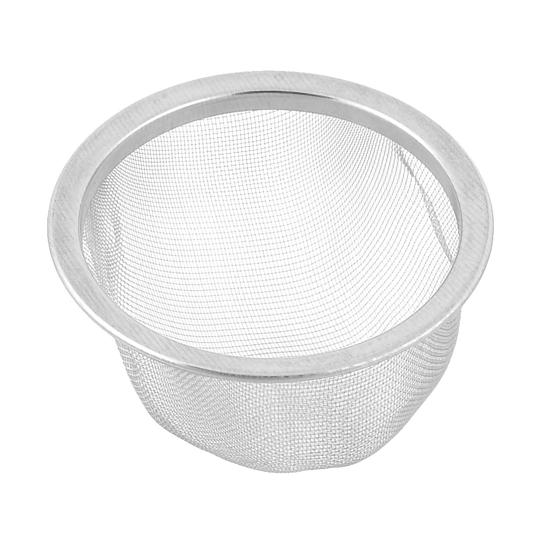 70mm Silver Tone Stainless Steel Wire Mesh Tea Leaves Spice Strainer