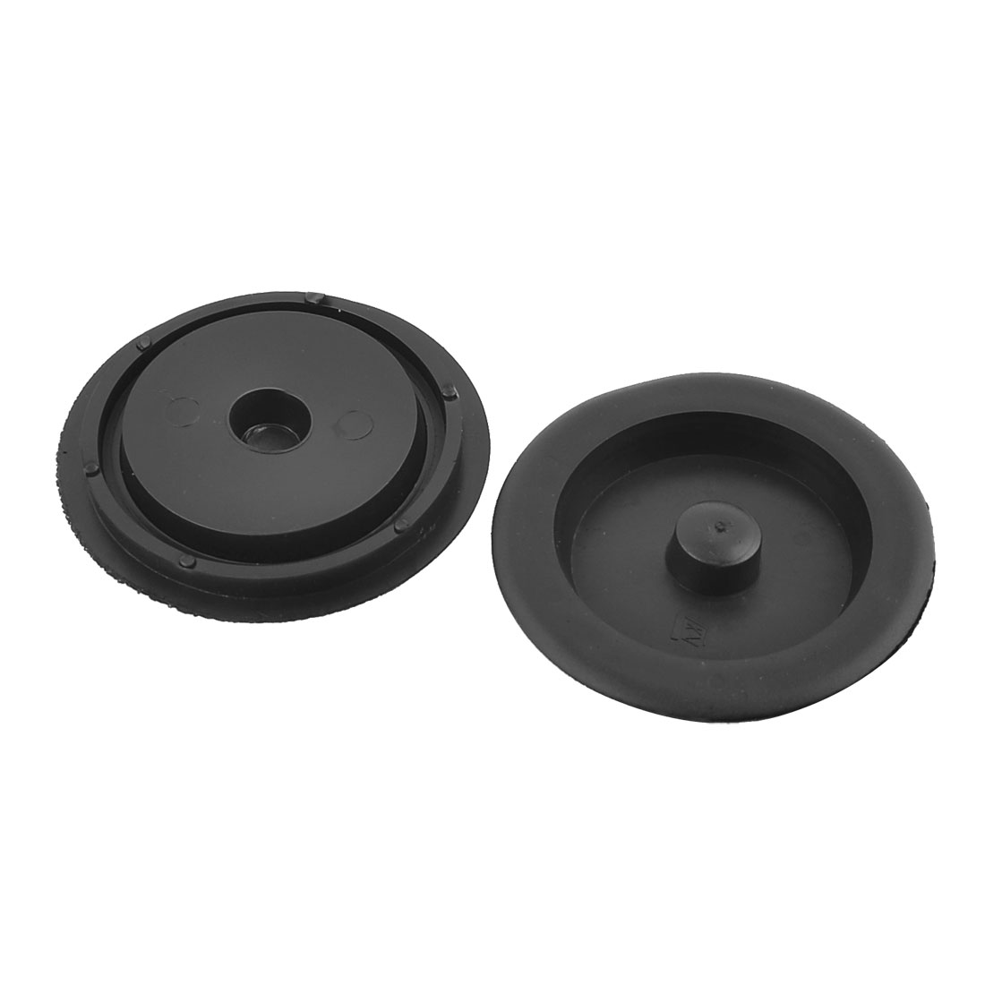 "Kitchen Black Plastic Garbage Disposal Sink Stopper Flange 3.5""m Dia 2 Pcs"
