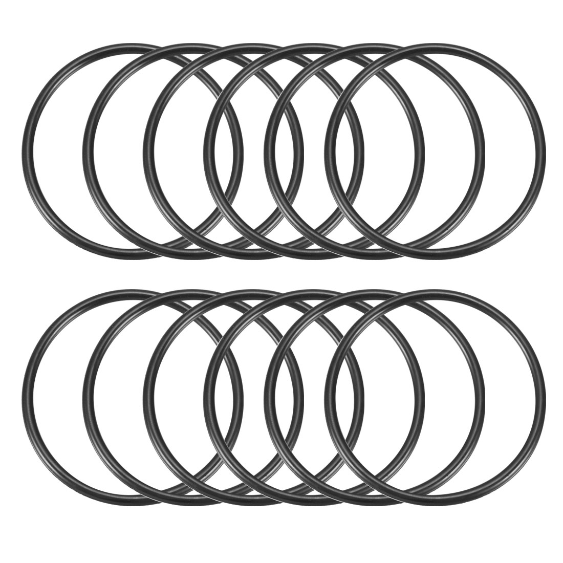 12 Pcs 65mm x 58mm x 3.5mm Rubber Oil Sealing O Rings for Mechanical