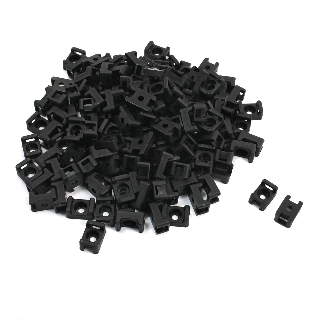 5mm Max Tie Width Plastic Cable Mount Saddle Base Holder 150 Pcs