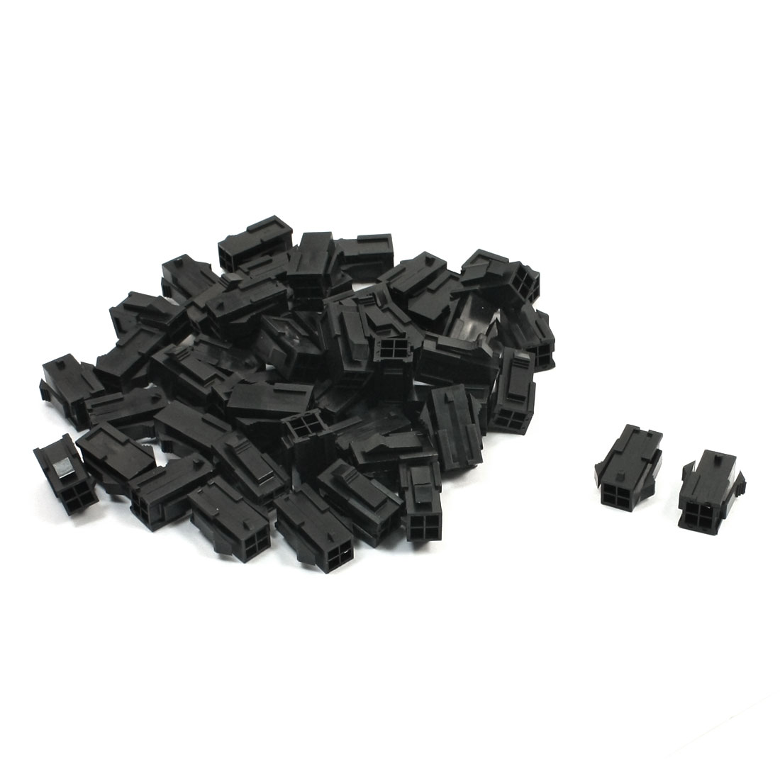 50Pcs 4 Pin Female 3mm Pitch Socket PCB Board Auto Car ATX Connector