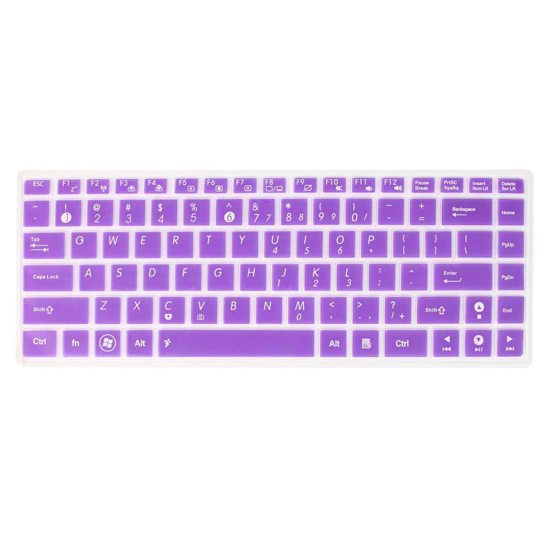 Soft Silicone Laptop Keyboard Protector Film Purple Clear for Asus F82Q/A11E/P81