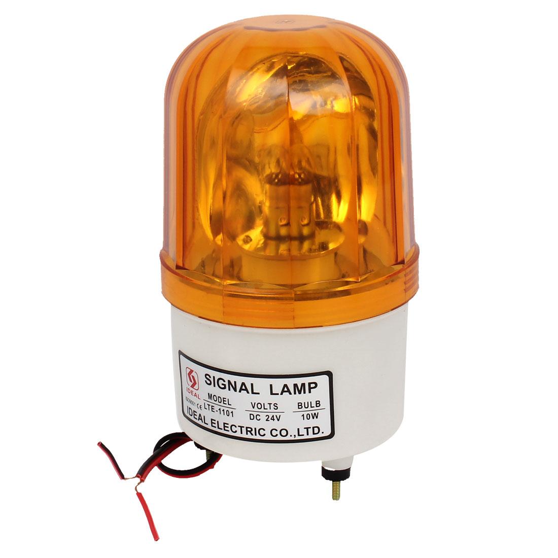 DC 24V Traffic Industrial Strobe Yellow Signal Warning Light