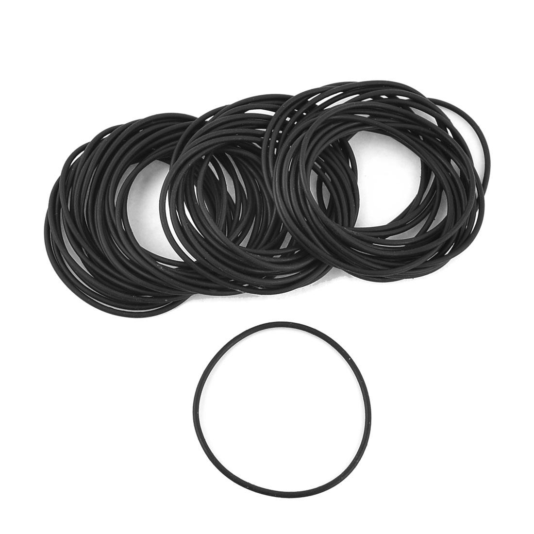 50pcs 44mm OD 41mm Inner Dia Nitrile Rubber O Ring Oil Seal Gaskets Black