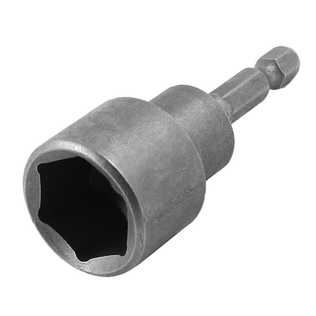 "Metal 0.7"" 18mm Magnetic Hex Socket Spanner Nut Driver Bit Gray"