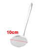 "Home Kitchen Silver Tone Spoon Oil Grease Wire Mesh Ladle 10.2"" Long"