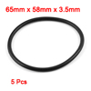 5 Pcs 65mm x 58mm x 3.5mm Rubber Oil Sealing O Rings for Mechanical