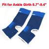 Black Blue Neoprene Open Heel Design Sleeve Ankle Support Brace