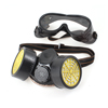 Double Cartridge Dust Gas Proof Respirator Mask Fliter Goggle Set