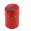 Metal Automatic Flap Lid Wood Pattern Red Tobacco Cigarette Ashtray Ash Holder